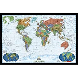 World Decorator Map (Two Sizes Available) Map Type: Enlarged and Tubed (48\