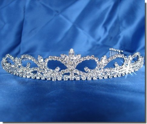 Bridal Wedding Tiara Crown With Crystal Arches 26116
