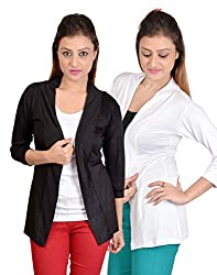 sweekash women's Long sleeve shrug (Combo pack of 2)