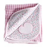 Anna Claire Beautiful Designed Baby Receiving Blanket, Double Sided Designs, Swaddle Blankets (Hannah) ~ ZZ Home