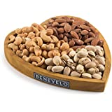Happy Valentines Day to Him, Assorted Gourmet Mixed Nuts Heart Tray, Includes Almonds, Pistachios, Cashews, A Healthy Gift Basket