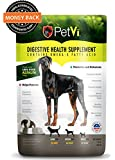 Petvi digestive health supplement, 1 lb promotes and enhances digestive health, immunity. prevents itching and scratching excessive shedding. 100 percent money back guarentee