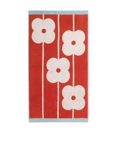 Orla Kiely Flower Abacus Bath Sheet, Tomato