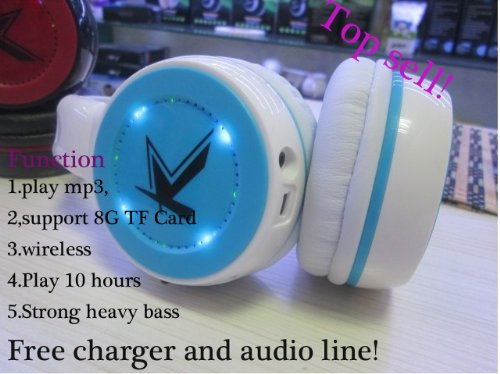 Hot Sell Mp3 Player Wireless Headset Headphones Earphone Auriculares Micro Sd Tf Card New 2014 Fashion Headphones