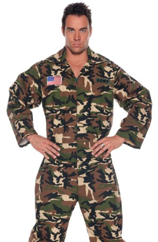Underwraps Men's Army Jumpsuit