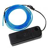 Timetop 3M Flexible Neon Light EL tube de câble métallique avec le contrôleur grande décoration pour la voiture, Fête, arbres de noël, Clubs variété de couleurs (bleu)...