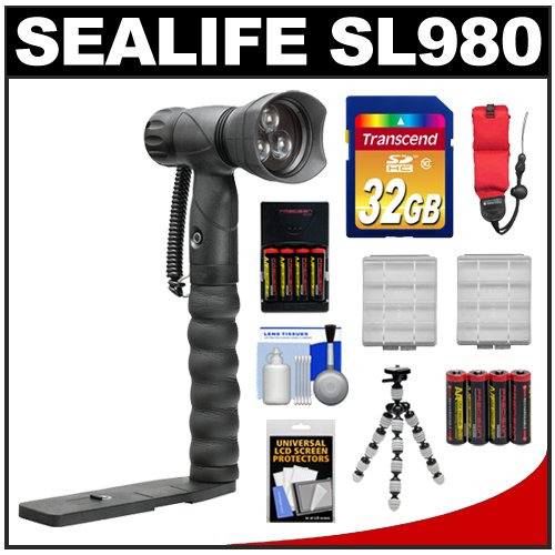 =>>  SeaLife SL980 Underwater Photo/Video LED Light Waterproof up to 330 ft. (100m) with Arm Bracket with 32GB Card + Batteries & Charger + Tripod + Accessory Kit