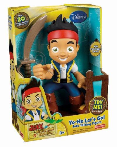 Imagen 2 de Mattel Fisher Price Disney Jake y los piratas - Figura (con voz y sonido, en inglés)