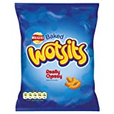 Walkers Baked Wotsits Really Cheesy Flavour Corn Puffs 25% Extra Free (Pack of 48)