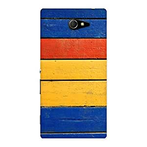 Ajay Enterprises colors Wood Decks Back Case Cover for Sony Xperia M2
