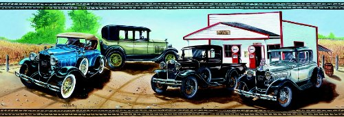 Ford Model A Classic Cars Wallpaper Border (Classic Car Wallpaper Border compare prices)