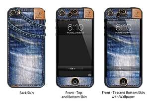 Sticasso Blue Denim Jeans - Original - Vinyl Skin/Decal for iPhone 4/4S - Matte Finish