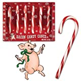 MEAT MANIAC ULTIMATE Novelty Candy Canes Sampler Gift Pack with Sticker- Bacon Candy Canes, Pickle Candy Canes, Gravy Candy Canes & Wasabi Candy Canes