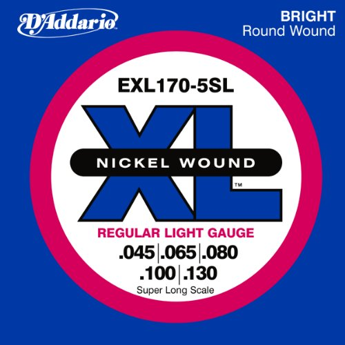 D'Addario EXL170-5SL 5-String Nickel Wound Bass