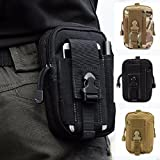 CAMTOA Multi-Purpose Poly Tool Holder EDC Pouch Camo Bag Military Nylon Utility Tactical Waist Pack Camping Hiking Pouch Black (Color: black 1)