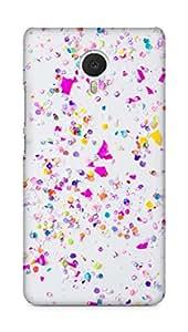 Amez designer printed 3d premium high quality back case cover forMeizu M3 Note (iphone confetti)