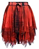 Dark Star Gothic Layered Zig-Zag Mesh/Net Skirt DS/SK/5596 Womens Tie dye Plain Fairy Festival Halloween Samhain Solstice Vampire Witch Goth Pirate