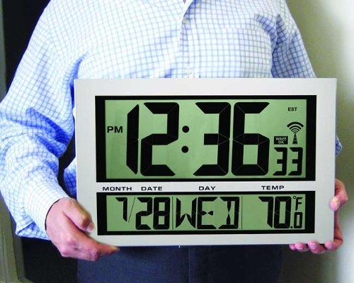 Hessstephen Buy Now Jumbo Giant Digital Atomic Wall Clock