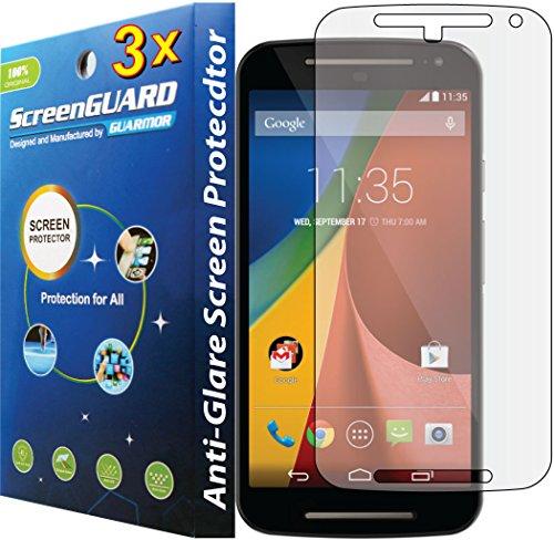 Guarmorshield 3X Motorola Moto G2 G 2 2Nd Gen Xt1063 Xt1068 Premium Anti-Glare Anti-Fingerprint Matte Finishing Lcd Screen Protector Guard Shield Cover Kits. (Guarmor Brand)
