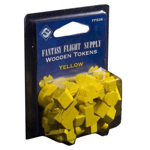 Fantasy Flight Supply: Wood Tokens: Yellow - 1