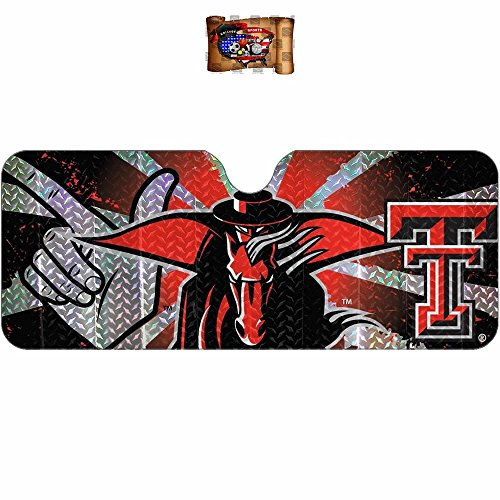 Licensed NCAA Texas Tech Red Raiders Reflective Sunshade UAA Inc Decal Universal (Tech Inc compare prices)