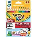 Bic Kids Evolution Triangle Etui carton de 12 Crayons de couleur