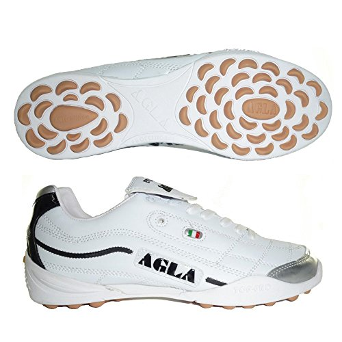 AGLA PROFESSIONAL EVOLUTION EXE TOP 2 WHITE scarpe calcetto calcio a 5 futsal (EU 41)