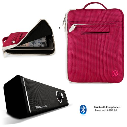 Lightweight Nylon Carrying Case For Dopo Double Power 9-Inch Tablet Gs-918, M975 + Bluetooth Speaker