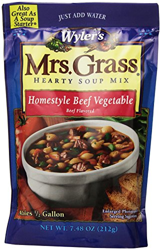 Mrs. Grass Hearty Soup Mix, Homestyle Beef Vegetable, 7.48 Ounce (Pack of 8) (Hearty Soup Mix compare prices)