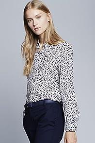 Long Sleeve Geometric Print Shirt