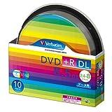 三菱化学メディア Verbatim DVD+R DL 8.5GB 1回記録用 2.4-8倍速 スピンドルケース 10枚パック ワイド印刷対応 ホワイトレーベル DTR85HP10SV1