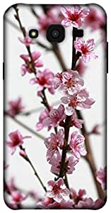 The Racoon Grip pink flower bough hard plastic printed back case / cover for Samsung Galaxy J5