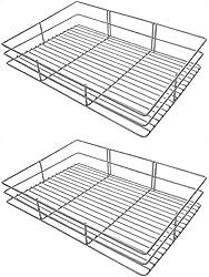 Sakshi Enterprises Stainless Steel Rectangular Bathroom Shelf�Combo Pack of 2 (38 cm x 7.5 cm x 25 cm, Silver)