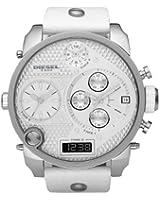 Diesel - DZ7194 - Montre Homme - Quartz Analogique - Digital - Chronomètre - Bracelet Cuir Blanc