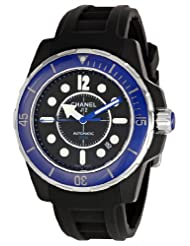 Chanel Men's H2559 J12 Black Rubber Strap Watch