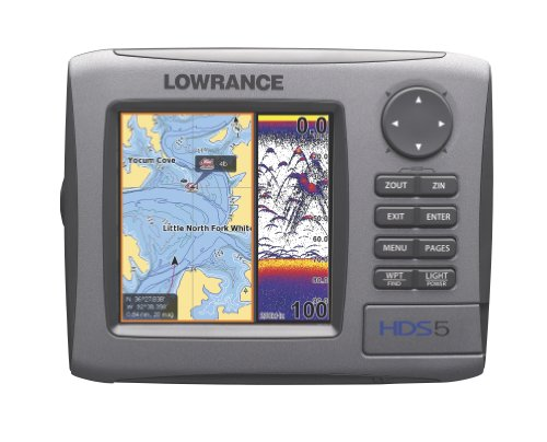 Lowrance fishfinder lowrance hds 5 5 inch waterproof for Lowrance fish finder gps