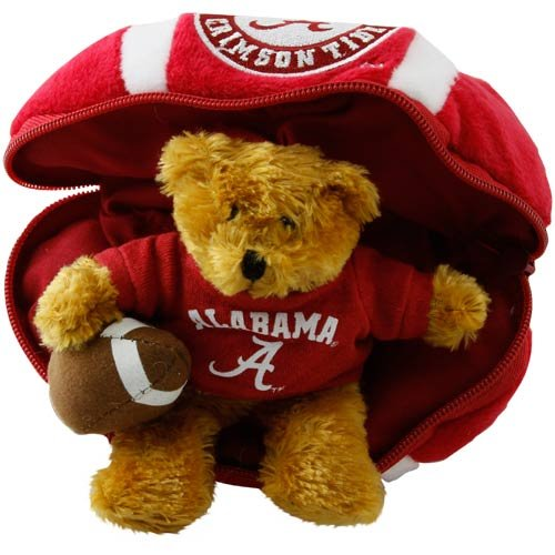 NCAA Alabama Crimson Tide Hidden Plush Bear Football Toy
