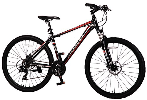 Navi-RS100-Hardtail-Mountain-Bike-Aluminum-Alloy-Frame-Disc-Brakes-Shimano-Tourney-21-speed-275-Wheel-Mountain-Bike-BLACK-RED