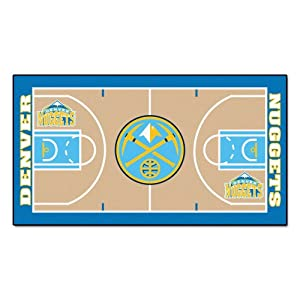 Buy FANMATS NBA Denver Nuggets Nylon Face NBA Court Runner-Small by Fanmats
