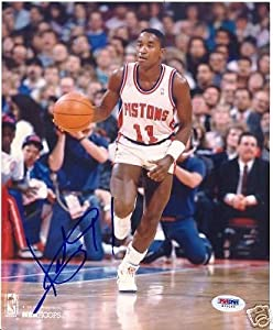 Isiah Thomas Detroit Pistons Signed 8x10 Photo PSA by Hollywood Collectibles