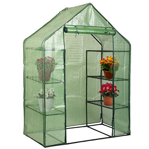 Planter Walk-in Portable Greenhouse Happy Mini 8 4 Tier Green House Walk In Shelves Outdoor New (Solar Heater For Greenhouse compare prices)