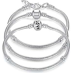 BraceletBangle Chain Charm Beads 16CM-21CM Pulseras PA1104: Jewelry