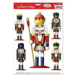 Beistle Party Decoration Nutcracker Clings 12\