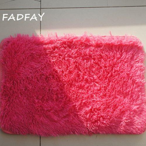 FADFAY Super Soft Modern Shaggy Area Rugs,Hot Pink Rug,Girls Room Rug, Hot Pink Living Room Carpet Bedroom Rug Washable Rugs (31''*47'')