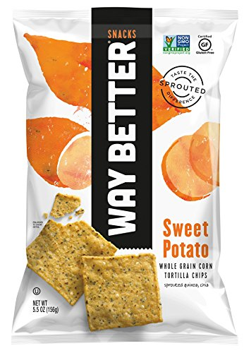 Way Better Snacks Tortilla Chips, Sweet Potato, 5.5 Ounce (Corn Tortillas Mix compare prices)