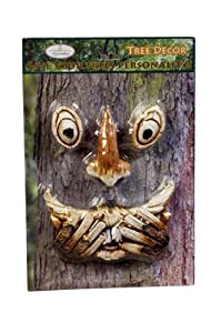 Gift Craft 14-Inch Speak Hear and See No Evil Tree Faces on Display Card, Small, Magnesia