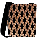Snoogg Abstract Blocked Woods Designer Womens Carry Around Cross Body Tote Handbag Sling Bags