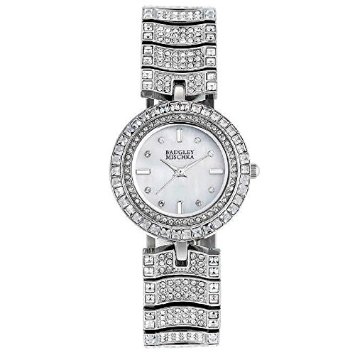 new-badgley-mischka-sparkling-swarovski-crystal-ladies-watch-in-silver-tone-finish