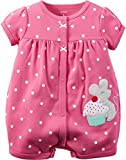 Carter's Baby Girls 1-piece Appliqué Snap-Up Cotton Romper (6 Months, Pink Mouse) Size: 6 Months Color: Pink Mouse, Model: 118G270, Newborn & Baby Supply