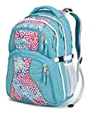 High Sierra Swerve Backpack, Tropic Teal/Galaxy Tribe/White